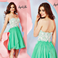Cheap Homecoming Dresses with Sweetheart Neckline Lace Appliques Short Mini Green Cocktail Dresses