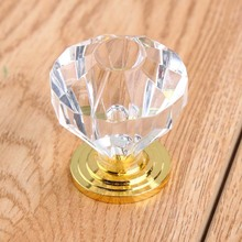 fashion deluxe diamind head drawer win cabinet knobs pulls clear crystal gold dresser  kitchen cabinet  door handles knobs