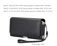 Vertical Horizontal Strap Belt Clip Dual Mobile Phone Leather Case Card Pouch For Galaxy Note FE
