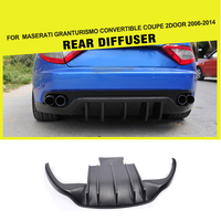Carbon Fiber FRP Rear Bumper Diffuser Lip Guard For Maserati GranTurismo Convertible Coupe 2Door 2006 2014