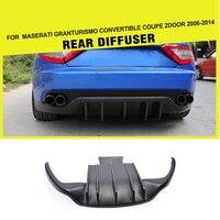 Carbon Fiber FRP Rear Bumper Diffuser Lip Guard For Maserati GranTurismo Convertible Coupe 2Door 2006 2014