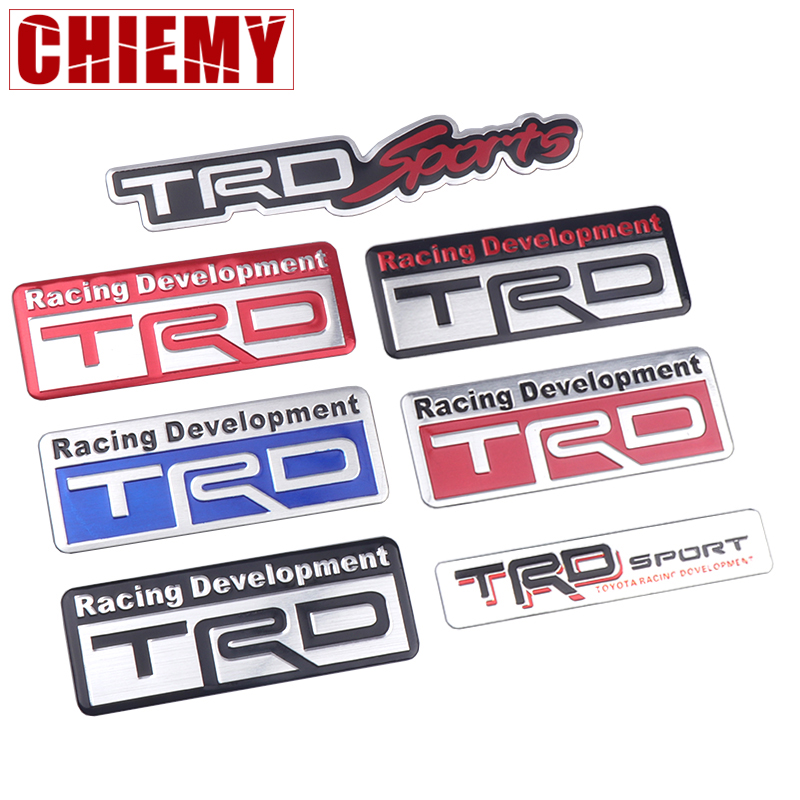 Car Styling TRD Logo 3D Racing Sports Sticker Auto Emblem Badge Decal For Toyota CROWN REIZ COROLLA Camry VIOS Accessories