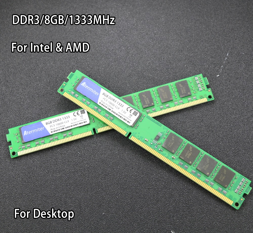 New 8GB DDR3 PC3-10600 1333MHz For Desktop PC DIMM Memory RAM 240 pins (For intel amd) Fully compatible System High Compatible server memory for 4g ddr3 1333 pc3 10600e ecc one year warranty