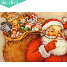 Merrken 5d Diy Santa Claus diamond painting cross stitch  embroidery mosaic home decor 30x40cm