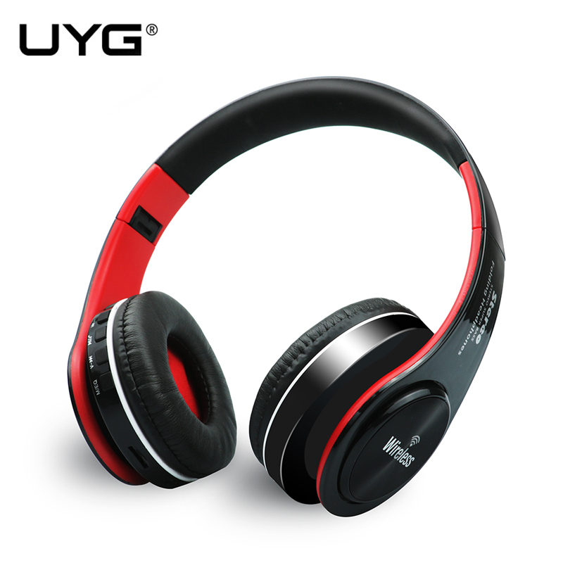 UYG ST-422 Bluetooth headphone Wireless headphones over-ear stereo Headset with microphone support TF card FM for smart phone 2016 new metal bluetooth stereo super bass headphones 8600 bluetooth 4 0 high fidelity wireless over ear headset for smart phone