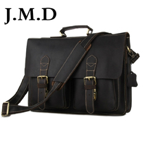 J.M.D New Arrival 100% Classic Leather Bag Crazy Horse Leather Style Men's Briefcase Bag Handbag Laptop Bag Messenger Bag 7105