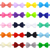 Infant Newborn Baby Girls Hair Bow Headband With Elastic Hair Bands Solid Bowknot Appliques Children Hair