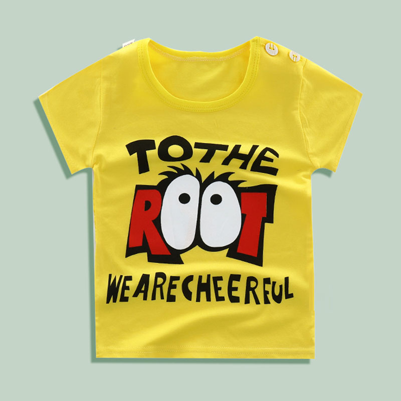 Lollas Summer 2018 New Baby Boy Shirts Cotton Cartoon Baby Clothes Toddler Baby Boy Clothing Newborn Baby T shirts