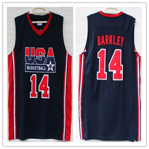 6a4c246bad22 Men s 14 Charles Barkley 1992 dream team usa Throwback Jersey