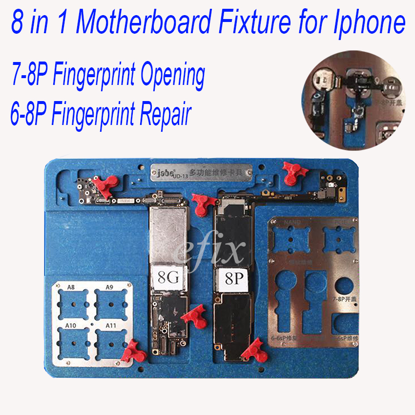 8/9 in 1 Motherboard Fixture IC Chip NAND Flash PCIE A9 A10 A11 CPU Holder for iPhone 8p 7p 6s 6p BGA fingerprint Repair Tools