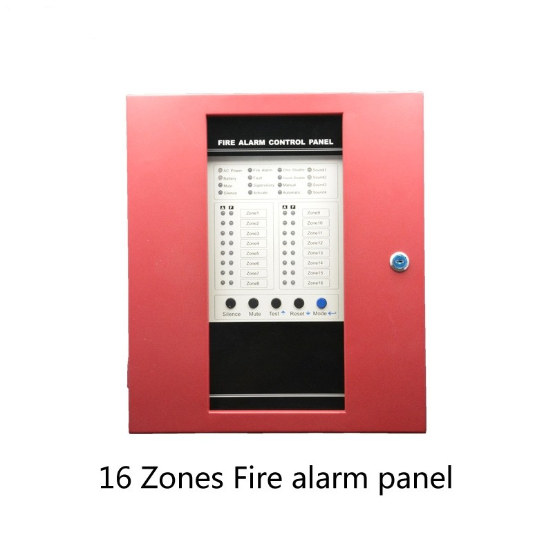 Free-DHL-shipping-Fire-Alarm-Control-Panel-16-Wire-Channel-Security-Protection-Easy-Installation-English-manual