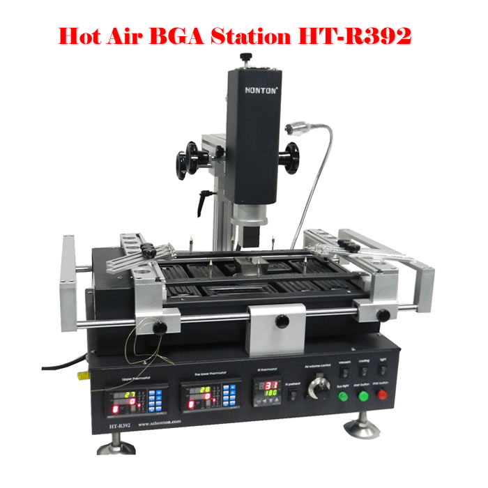 Honton HT-R392 Infrared+hot air BGA rework system,bga rework machine,soldering station,free tax to Russia ship to russia no tax jovy re8500 bga rework station re 8500 upgraded from re7500 soldering machine high quality