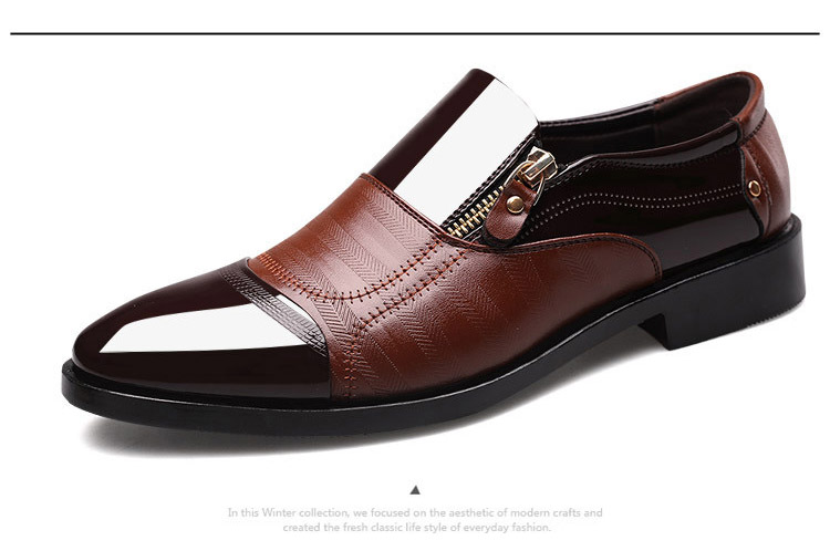 fb333cbe878 REETENE Fashion Business Dress Men Shoes 2019 New Classic Leather ...