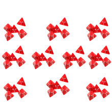50pcs Multi-Sided Dice with Numbers 1-4 Game Colors Polyhedral Dies Toy for Boys & Girls Roleplay Party Supplies - Red