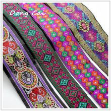 Vintage Ethnic Embroidery Lace Ribbon Boho Lace Trim DIY Clothes Bag Accessories Embroidered Fabric for sewing accessories 2018