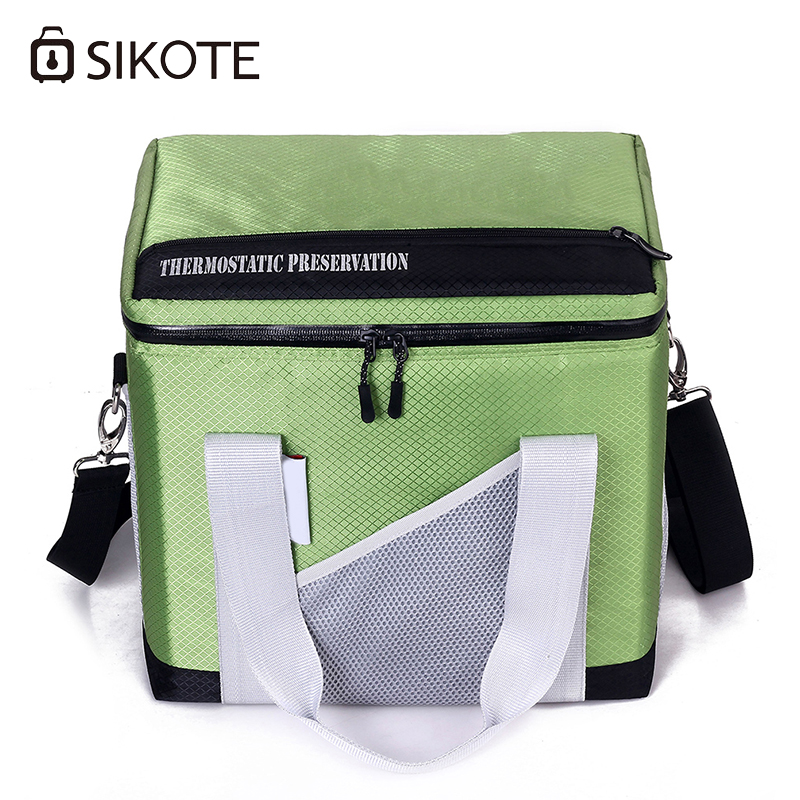 SIKOTE 24L High Quality Waterproof Portable Food Picnic Bags Insulation Keep fresh Car <font><b>Cooler</b></font> Bag Lunch Box Thermo Bag