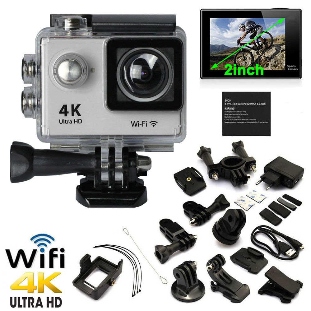 4K 1080P HD Action Sport Mini Camera Waterproof Cam Wifi Camcorder Helmet Go pro style for Xiao Mi Yi Water Resistant Camcorder водонепроницаемый чехол для mi action camera 4k