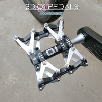 1 Pair Aluminum Alloy MTB Mountain BMX Bicycle Bike Pedals Cycling Sealed Bearing Pedals Pedal SMS