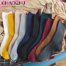 2019ฤดูใบไม้ผลิ10คู่สีผสมถุงเท้าหลวมผู้หญิงญี่ปุ่นสไตล์สีซี่โครงพื้นฐานแฟชั่นสาวถุงเท้าheap