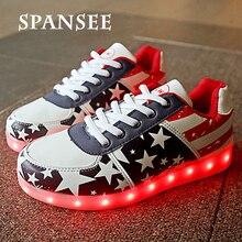 Мода Освещенные Shoes СВЕТОДИОДНЫЕ Тапочки Светящиеся Кроссовки Светящиеся Shoes with Light Up Подошва Корзины Femme Дети Девушка Женщина для женщины 15