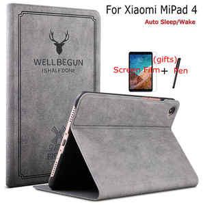 Умный мультяшный чехол из искусственной кожи для Xiaomi MiPad 4 8,0 дюймов планшет чехол для Mi Pad 4 с автоматическим сном/пробуждением и бесплатными ...