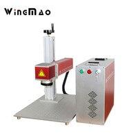 Pulsed ring fiber marker 20w 30w 50w fiber laser rotary marking machine