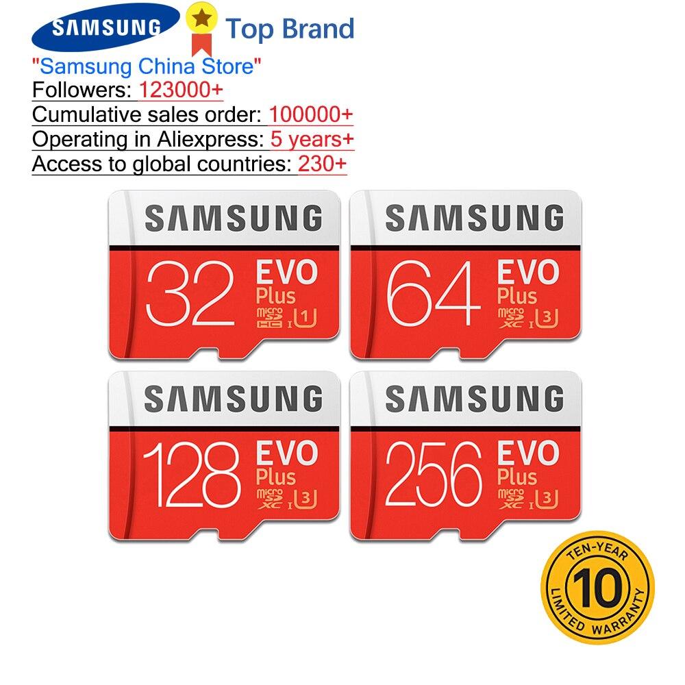 SAMSUNG 100% Original TF Micro SD Karte speicher Karte MicroSD EVO Plus-Class 10 U3 32GB 64GB 128GB 256GB Smartphone Tablet Kamera