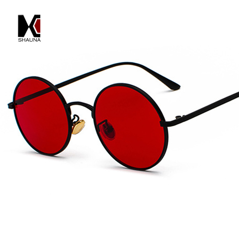 SHAUNA Super Round Women Sunglasses Brand Designer Fashion Men Dark Green Lens Shades UV400 ...