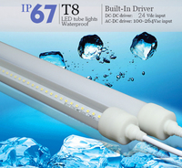 Patent 1.2m 1.5m waterproof IP67 led tube light T8 low temperature resistance No ballast No starter required