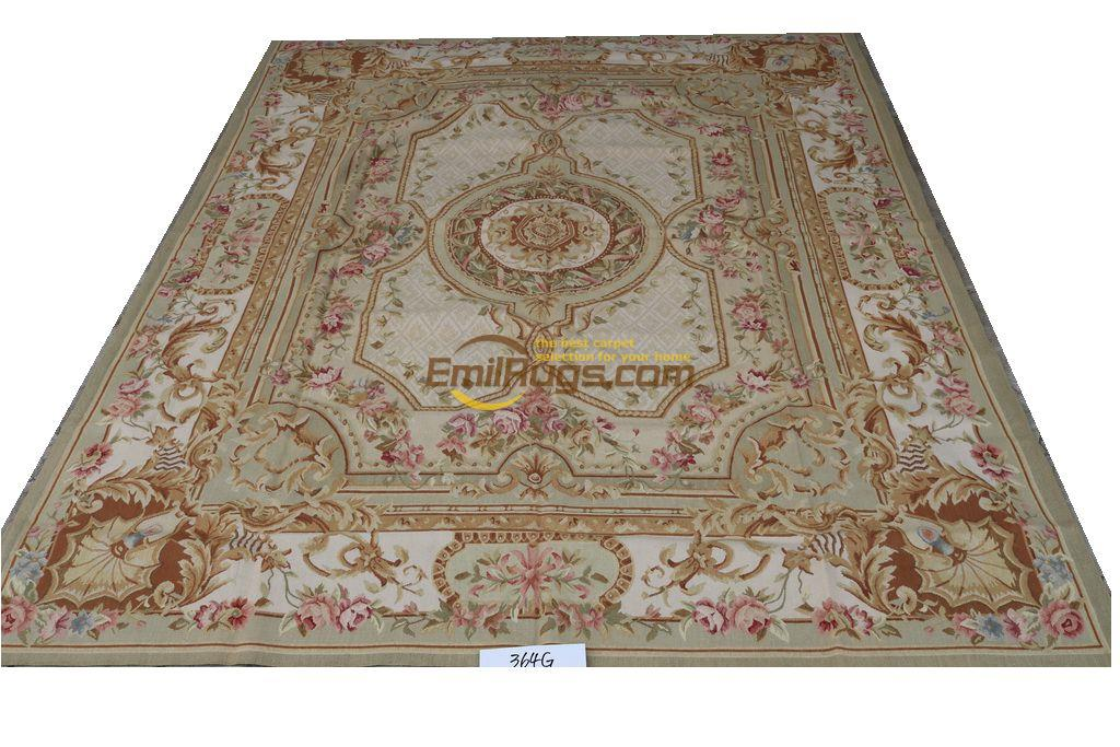 Large Carpets Aubusson Rug Wool Rug 244cmx305cm 8 39x 10