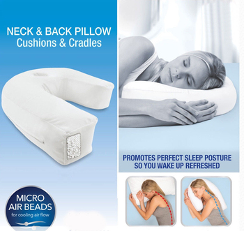 Health Care Pillow Side Sleeper Pillows Neck & Back Pillow Hold Neck Spine Protection Cotton Pillow