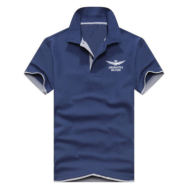 Summer New Men's Boutique Breathable Polo Shirt High Quality Lapel Men's Air Force One Polo Shirt Size S-XXL Men Clothes 2018