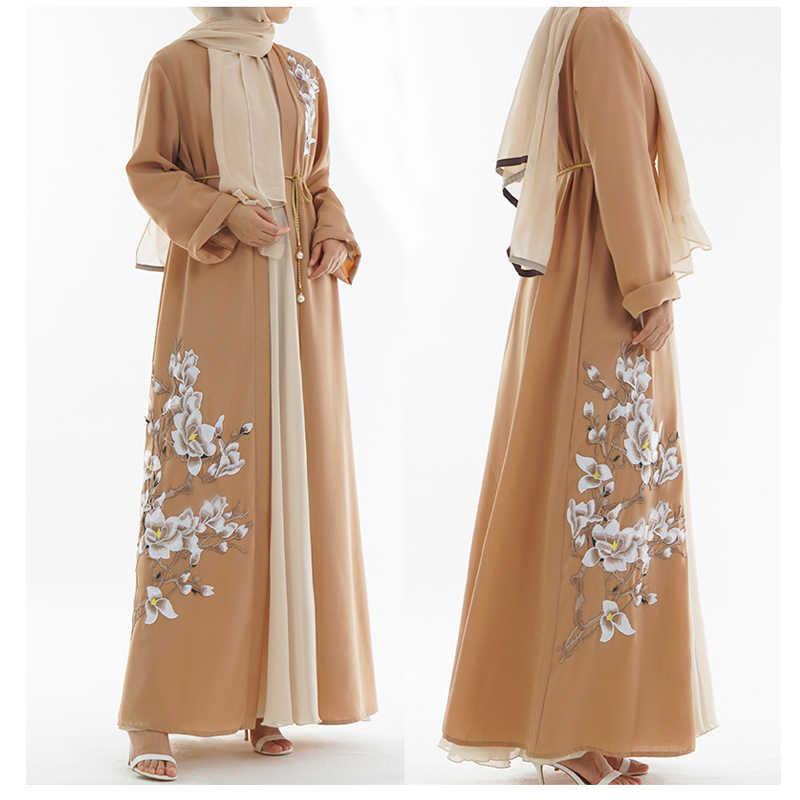 Kaftan Abaya musulmana Kimono túnica de Dubái vestido hijab Abayas mujeres Jilbab Ramadán Elbise caftán marroquí ropa islámica turca