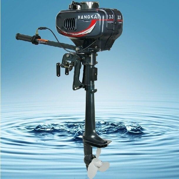 Promosyon yüksek kalite ucuz çin Hangkai 3.5HP dıştan takma motorlu tekne motoru 2 zamanlı 2 adet 5% kapalı