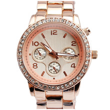 Hot sales Women's Crystal Stone gold Watches 5colors choice rose gold Wastches Lady Fashion Quartz silver watches for women