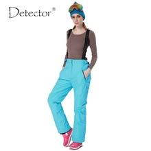 Detector de 35 grados nieve pantalones más tamaño elástico de la cintura señora pantalones de invierno pantalones de esquí pantalones de esquí al aire libre de patinaje para mujeres