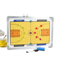 Portable Magnetic Basketball Board Coaching Aluminum Coach Basketball Board Training Game Tactics Competition Magnet Clipboard