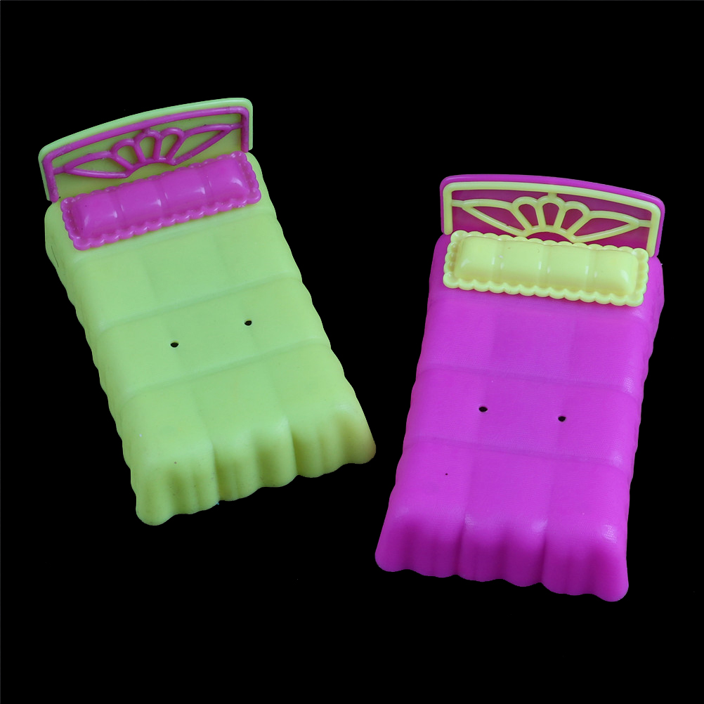Miniature Furniture Doll Bed Krissy Dolls Dollhouse Accessories Doll House Bedroom Decor Color Randomly For For  Sister
