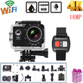 "4K 1080P Wifi Sports Action Camera DV Mini Video Camcorder 2"" LCD Screen 4X Zoom 16MP Waterproof 30M Car DVR with Remote Control"