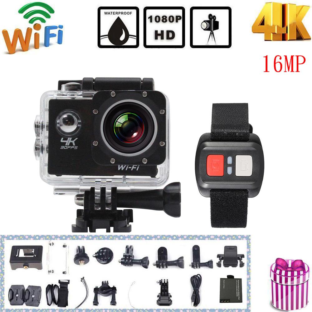 """Prix pour Andoer 4 K Caméra 2 """"LCD Écran Wifi Camera Action 4X Zoom 16MP Caméra Sport Étanche 30 M go pro Caméra avec Télécommande"""