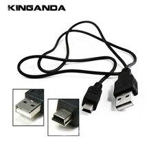 Черный USB 2.0 Мужской к Mini 5-контактный кабель для зарядки данных Адаптер шнура