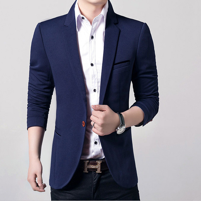 2017 New Fashion brand Men Blazer Casual Slim Fitness Men's Single Botton Suit Leisure Formal Blazer Suit 4XL 5XL Masculino Coat