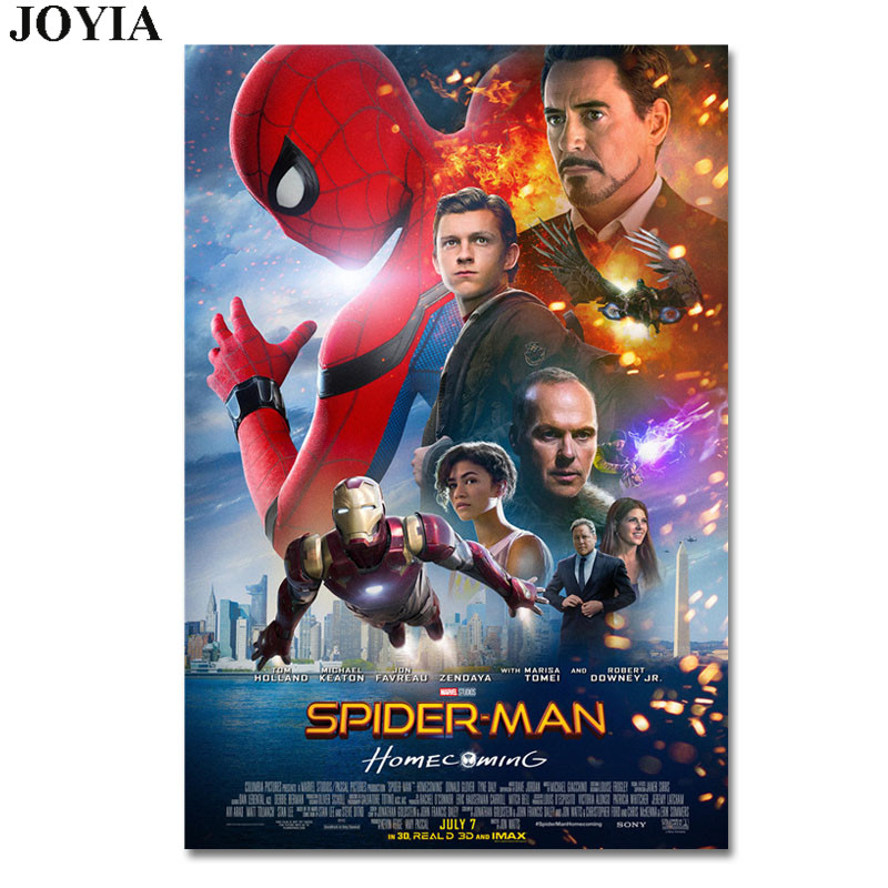Spiderman Poster Spider-Man Homecoming Movie Posters Prints Cool Marvel Film Heroes Peter Parker Pictures Art No Frame