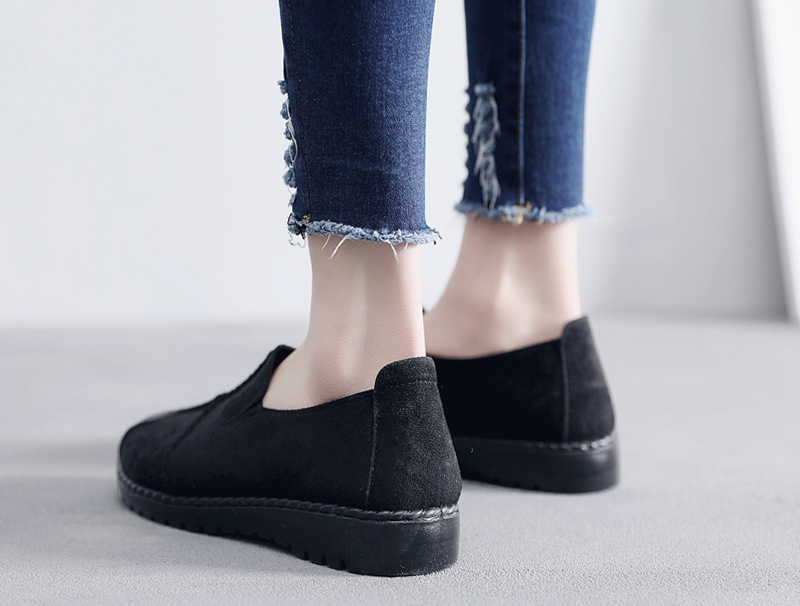 Plus Size Summer Women Flats Fashion Splice Flock Loafers Women Round Toe Slip On Leather Casual Shoes Moccasins New 2019 VT209 (25)