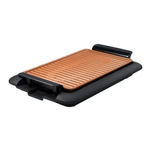 Electrothermal barbecue plate Fast BBQ Smokeless Grill With Temperature Dial Heated Grilling Grate Made of Ti-cerama