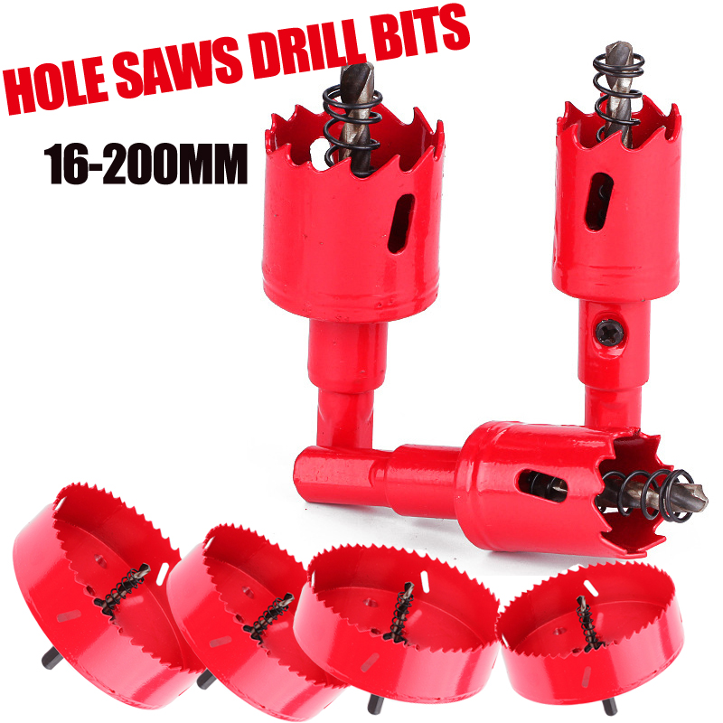16-200mm M42 HSS Steel Drilling Hole Saw Drill Bit Cutter Bi-Metal For Aluminum Iron Stainless Steel DIY Wood Cutter Drill Bits