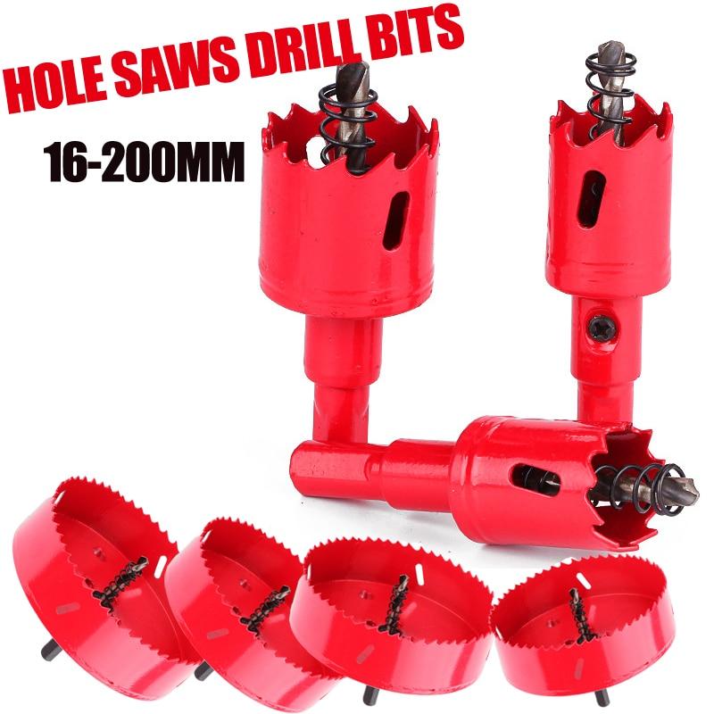 16-200mm M42 HSS Steel Drilling Hole Saw Drill Bit Cutter Bi-Metal For Aluminum Iron Stainless Steel DIY Wood Cutter Drill Bits
