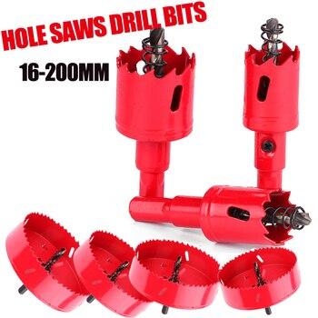 цена на 16-200mm M42 HSS Steel Drilling Hole Saw Drill Bit Cutter Bi-Metal for Aluminum Iron Stainless Steel DIY Wood Cutter Drill Bits