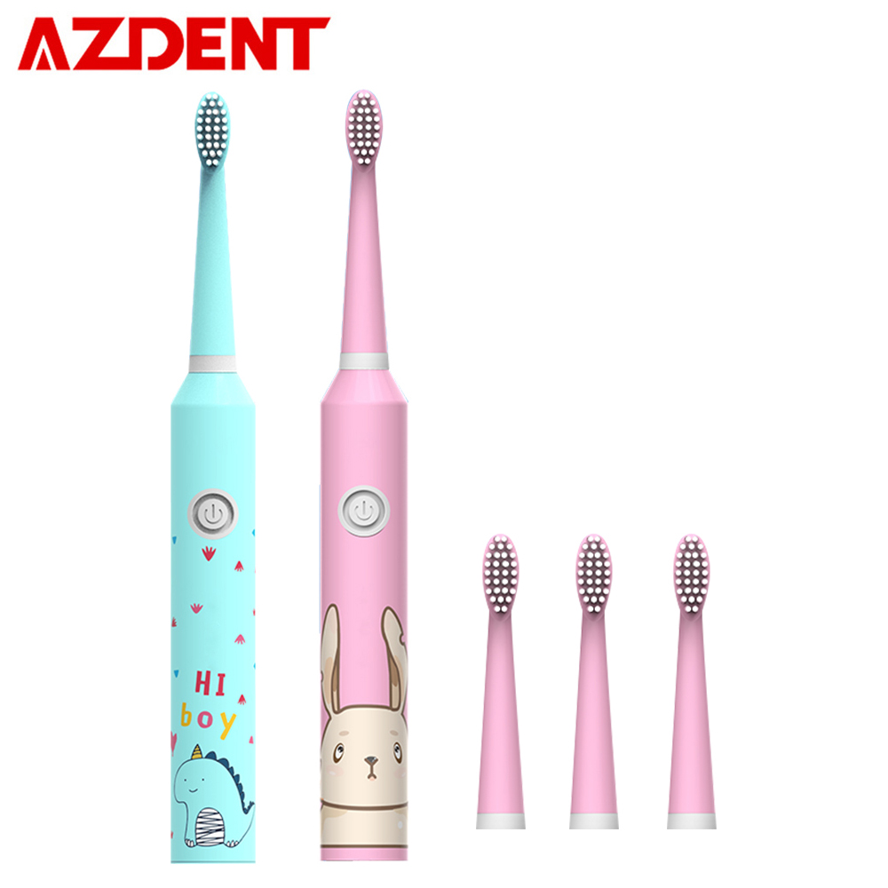 Amiable 3 Modes Cartoon Pattern Children Sonic Electric Toothbrush For Kids With 4pcs Soft Dupont Heads Waterproof Timer Oral Deep Clean Personal Care Appliances
