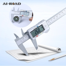 AI-ROAD 150mm Vernier Caliper Digital Electronic  Carbon Fiber LCD Micrometer Measuring Tool 6 Inch